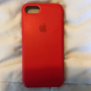 Apple Other - Apple Genuine iPhone 8 Product Red Silicone Case